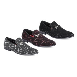 Miko Lotti Men's Slip-On Smoking Loafers and Buckle