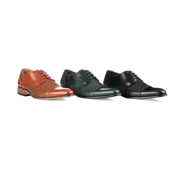 425ab4e016a Shop UV Signature Men's Cap Toe Derby Dress Shoes - On Sale - Ships ...