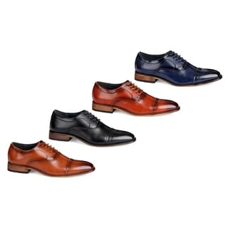 UV Signature Men's Lace Up Cap Toe Oxfords