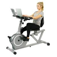 Sunny Health & Fitness Recumbent Desk Bike with Magnetic Resistance