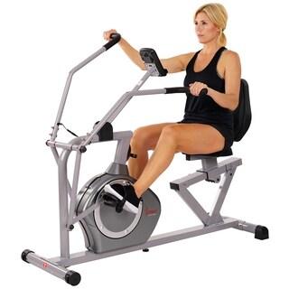 Sunny Health & Fitness Cross Training Magnetic Recumbent Bike
