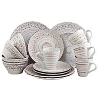 Elama Malibu Waves 16-Piece Dinnerware Set in Shell