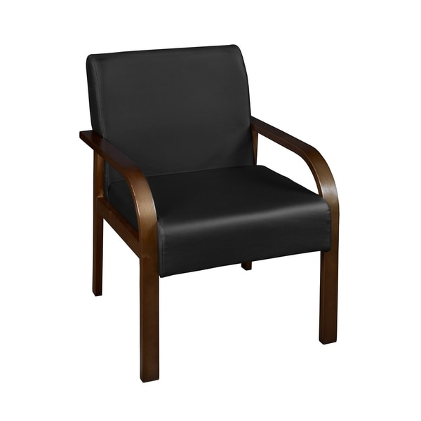 Copper Grove Matthiola Bentwood Lounge Side Chair- Mocha Walnut/Black Vinyl