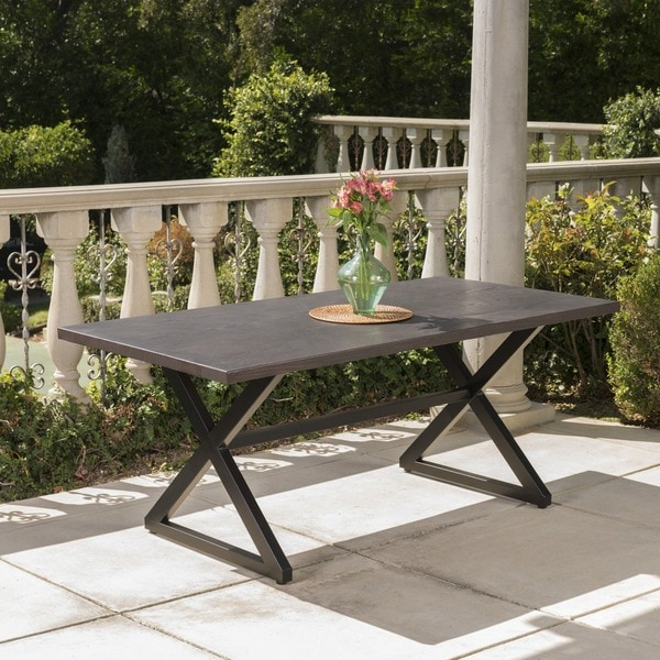 Rolando Outdoor Aluminum Picnic Dining Table by Christopher Knight Home. Opens flyout.