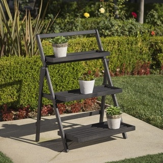 Link to Meridien Outdoor Acacia Wood Plant Stand by Christopher Knight Home Similar Items in Stands