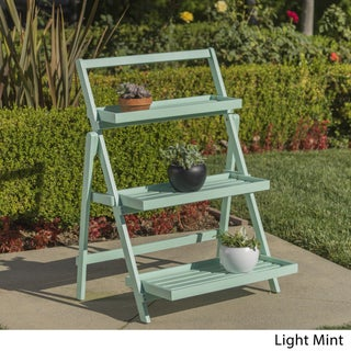 Meridien Acacia Wood Plant Stand by Christopher Knight Home