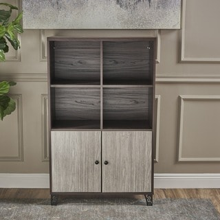 justina mid century modern wood cabinet by christopher knight home