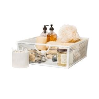 Large Wire Nesting Utility Shelf Storage Basket 2 Piece Set, White