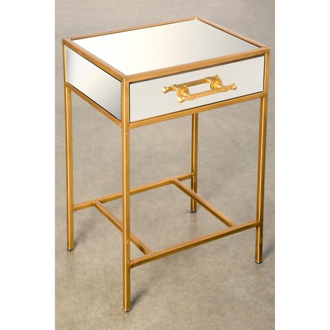 Statements by J Monica Goldtone Iron Glass Night Stand