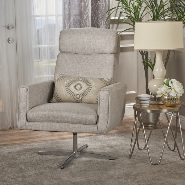 Beau Horatia Modern Fabric Swivel Accent Chair By Christopher Knight Home