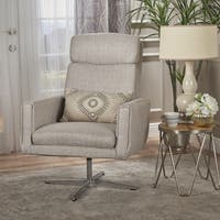 Horatia Modern Fabric Swivel Accent Chair by Christopher Knight Home