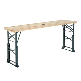 Outsunny 6ft Folding Height Adjustable Picnic Table w/ Umbrella Hole