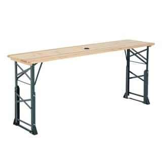 Outsunny 6ft Folding Height Adjustable Picnic Table w/ Umbrella Hole|https://ak1.ostkcdn.com/images/products/18109276/P24265294.jpg?impolicy=medium