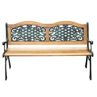 "Outsunny 50"" Outdoor Patio Garden Bench Love Seat"