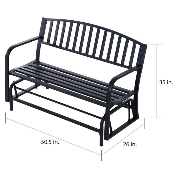 Outdoor Patio Swing Glider Bench Chair