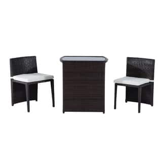 Outsunny 3 Piece Chair and Table Rattan Wicker Patio Nesting Furniture Set|https://ak1.ostkcdn.com/images/products/18109286/P24265291.jpg?impolicy=medium