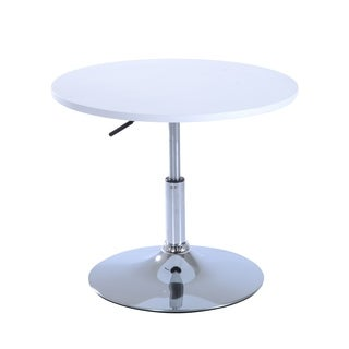 "HomCom 24"" Round Indoor/ Outdoor Bar Table - White"