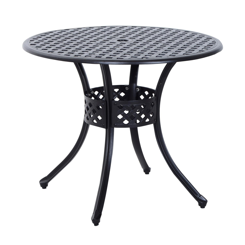 Patio Furniture Iron Black.Black Aluminum Patio Furniture Find Great Outdoor Seating