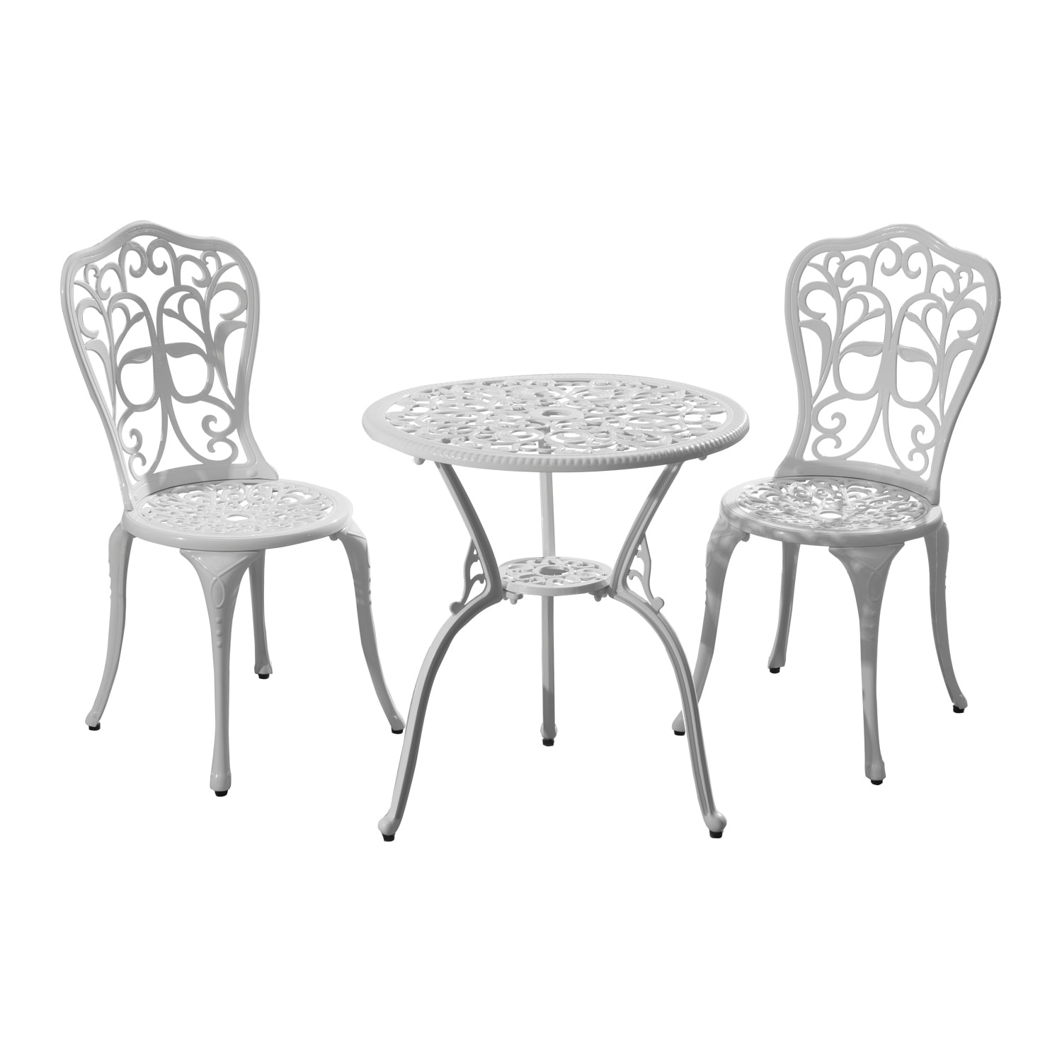 Aosom Outsunny 3pc All-Weather Bistro Outdoor Table and C...