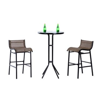 Outsunny 3 Pc Outdoor Patio Pub Bistro Table U0026 Chairs Set