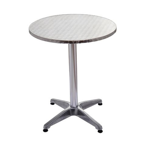Havenside Home Sanibel Silver 24-inch Round Top Adjustable Indoor/ Outdoor Bistro Bar Table