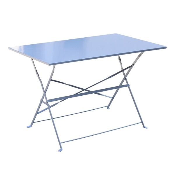 Outsunny 3 Piece Outdoor Folding Bistro Table And Chairs Set   Light Blue