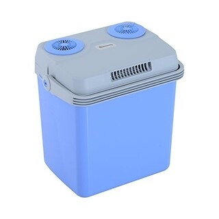 Outsunny 33 Quart 12V AC/DC Thermoelectric Portable Cooler / Warmer w/ Car Adapter - Blue
