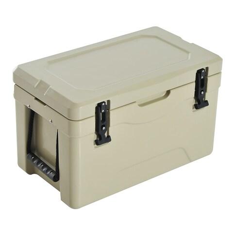 Outsunny 32 Quart Heavy Duty Roto-Molded Cooler / Ice Box