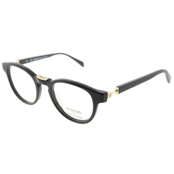 5850eef30d5 Shop Balmain Round BL 1078 C01 Unisex Black Frame Eyeglasses - Free ...