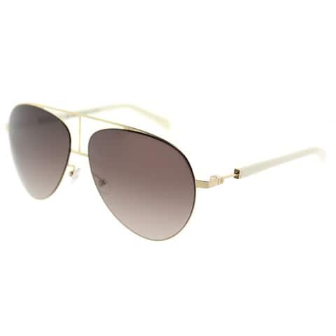 Balmain Aviator BL 2103 C03 Unisex Gold Ivory Frame Brown Gradient Lens Sunglasses