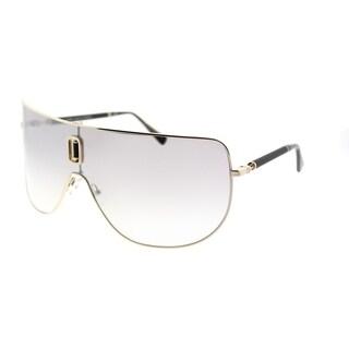 Balmain Shield BL 8090 C01 Unisex Gold Black Frame Silver Mirror Lens Sunglasses