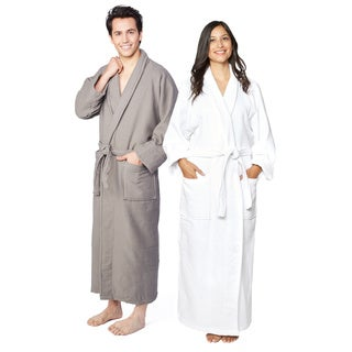 Superior Cotton Waffle Weave Spa Bath Robe (As Is Item)