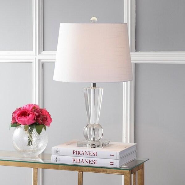 "Wynne 22"" Crystal LED Table Lamp, Clear"