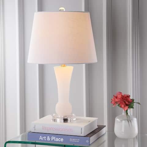 "Eliza 23"" Alabaster LED Table Lamp, Crystal Base by JONATHAN Y"