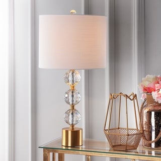 Link to Ashley Clear/ Brass Crystal LED Table Lamp by JONATHAN  Y Similar Items in Table Lamps