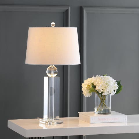 """Charlotte 28.5"""" Crystal LED Table Lamp, Clear by JONATHAN Y"""