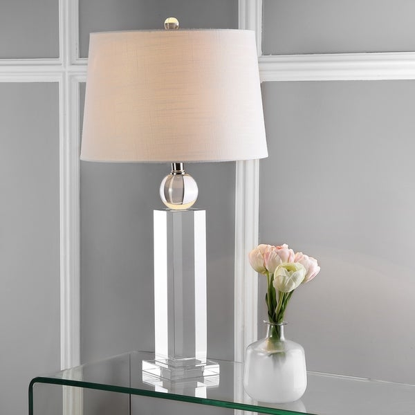 """Charlotte 28.5"""" Crystal LED Table Lamp, Clear"""