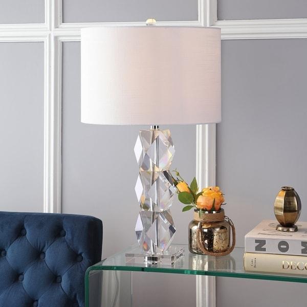 """Sofia 26"""" Crystal LED Table Lamp, Clear"""