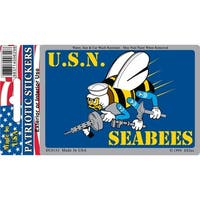 US Navy Seabees Car Decal 3 by 4 Inches