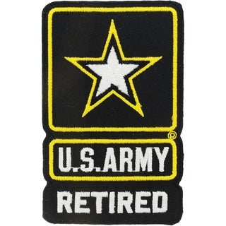 US Army Logo Retired Patch 3-3/4 Inches