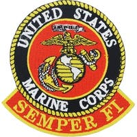 US Marine Corps Semper Fi Logo Patch 3 Inches