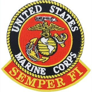 US Marine Corps Semper Fi Logo Patch 3 Inches