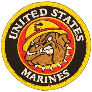 US Marine Corps Bulldog Mascot 3 Inch Patch
