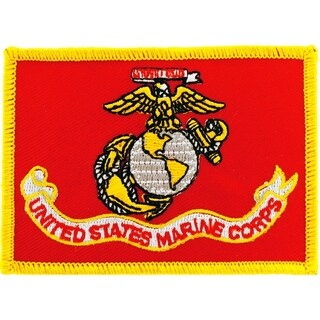 USMC Flag Patch 2-1/2 by 3-1/2 Inches