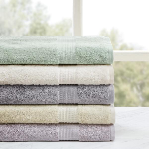 Shop Madison Park Organic 6 Piece Cotton Towel Set Free