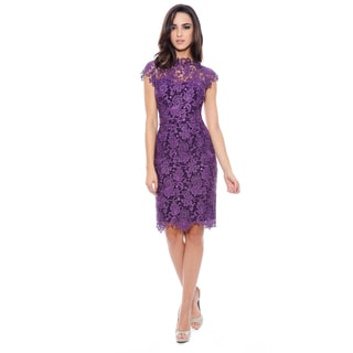 Short Lace Cocktail Dress (Option: 12)