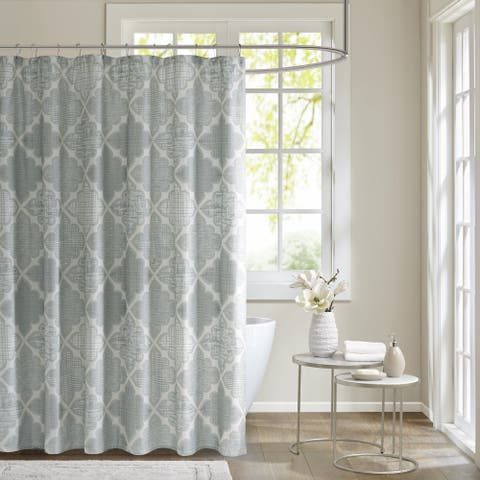 Madison Park Karyna Cotton Sateen Printed Shower Curtain
