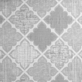 Madison Park Karyna Cotton Sateen Printed Shower Curtain 2 Color Option