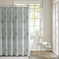 Madison Park Karyna Cotton Sateen Printed Shower Curtain 2 Color Option