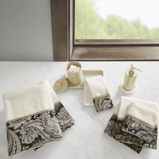 Madison Park Wellington Cotton 6 Piece Jacquard Towel Set 2 Color Option